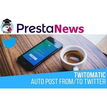 ماژول ارسال پست خودکار محصولات در توییتر پرستاشاپ