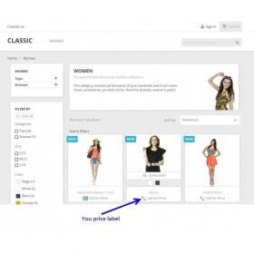 ماژول تماس برای قیمت + دکمه صفحه محصول پرستاشاپ