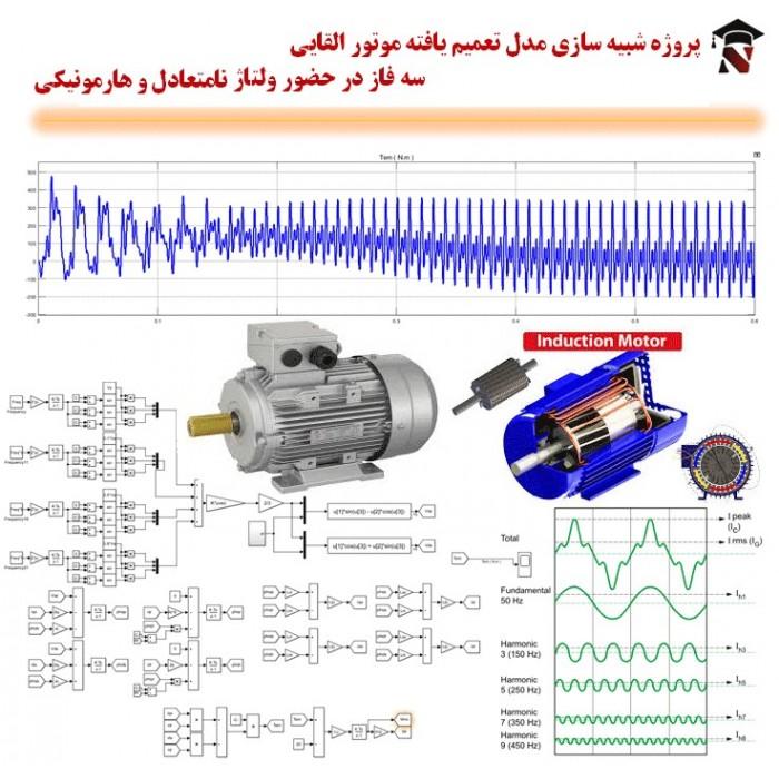 شبیه سازی مدل تعمیم یافته موتور القایی سه فاز در حضور ولتاژ نامتعادل و هارمونیکی