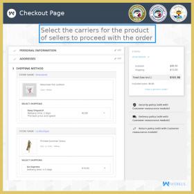 ماژول اکستنشن وبکول جداکننده سبد خرید و سفارشات
