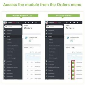 ماژول مدیریت سریع جزییات سفارشات پرستاشاپ