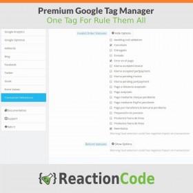 ماژول مدیریت تگ گوگل - Premium Google Tag Manager Module