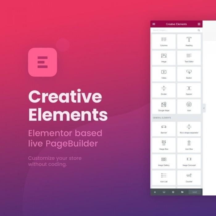 فرم ساز و طراحی صفحه پرستاشاپ ماژول بی نظیر Creative Elements صفحه ساز قدرتمند برای پرستاشاپ